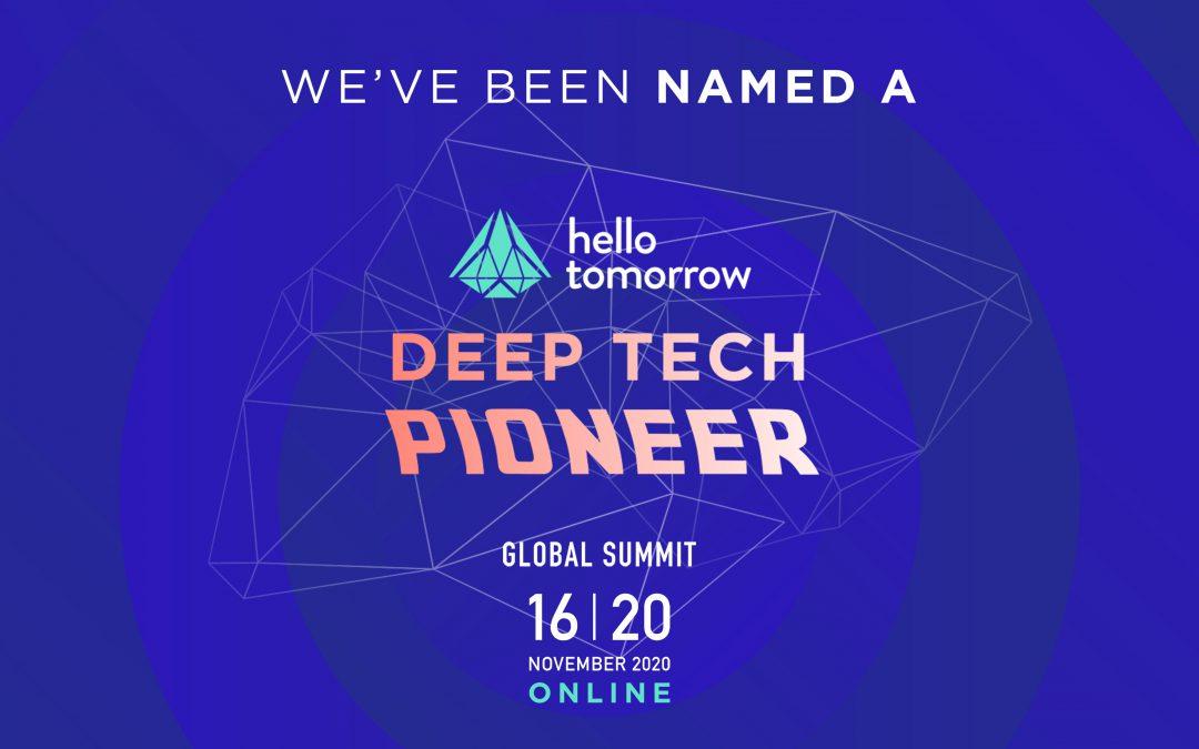 CarbonX has been named Deep Tech Pioneer